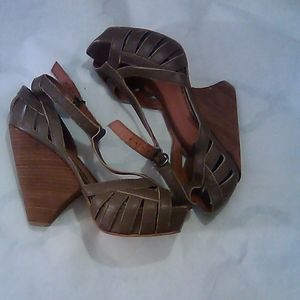 Lucky Brand Taupe Strappy Heels